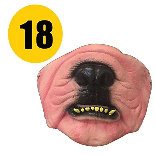 schrecklich unheimlich Horror Cosplay Partei Halloween-Maske Clown Erwachsene Partys Masken Gesicht Dekoration [18 2PC] ()