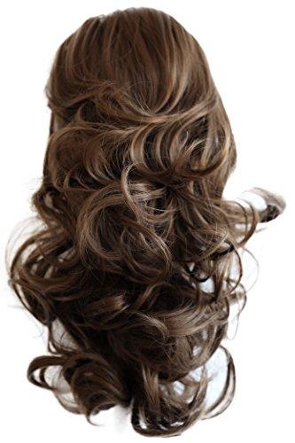 PRETTYSHOP 40cm Haarteil Zopf Pferdeschwanz Haarverdichtung Haarverlängerung VOLUMINÖS 40cm hellbraun #12 PH206