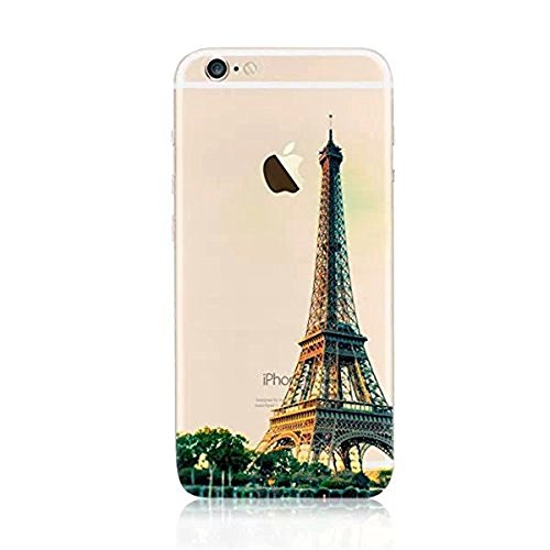 iPhone 8 Plus Hüllen, Vandot 3D Landschaft Handyhülle für iPhone 8 Plus Handytasche (5.5 Zoll) TPU Sillikon Transparent Muster Malerei Passgenaues Case Cover Thin Pattern Weich Etui Handy Schutz Tasch Muster 17