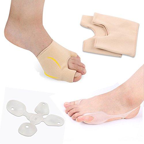 Sumifun-Férula Alivio Protector para dedos, GEL pies cuidado herramienta camillas Hallux Valgus pulgar ortopédicos tirantes Toe Separadores (juanete férulas)