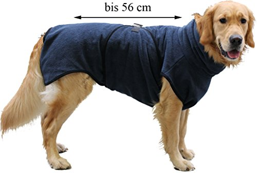 FamilyZoo Hundebademantel | bis ca.56 cm | Trockenmantel | Grau -