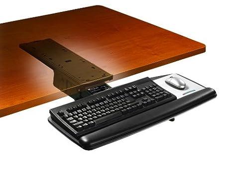 3M Adjustable Keyboard+Mouse Tray 17.75 Inch, AKT71LE (17.75 Inch 3M Keyboard Tray with Lever Adjust Arm, 17-3/4 Inch Track, Gel Wrist Rest, Black)