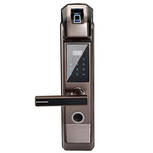 LUYIYI Sicherheit Elektronische Fingerabdruck Türschloss Digitale Keyless Keypad Kombination Karte Schlüssel Smart Entry für Home Office (Color : Left Handle)