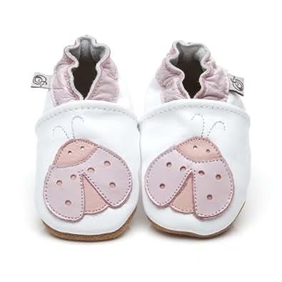 Chaussons Bébé en cuir doux - Coccinelle - 6/12 mois