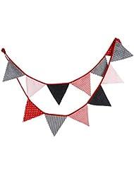 Drapeau de la bande de 10.5 pieds Drapeau triangulaire de tente extérieure, rouge noir Style