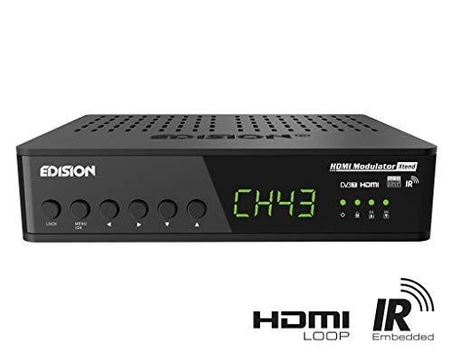 EDISION HDMI Modulator Xtend HDMI auf DVB-T (HDMI Loop, RF Loop, Steurung Infrarot-Signale über Koaxial Kabel, Plug & Play, Full HD, HDTV, DVB-T MPEG4, USB Pre-Config Funktion) schnelle Installation