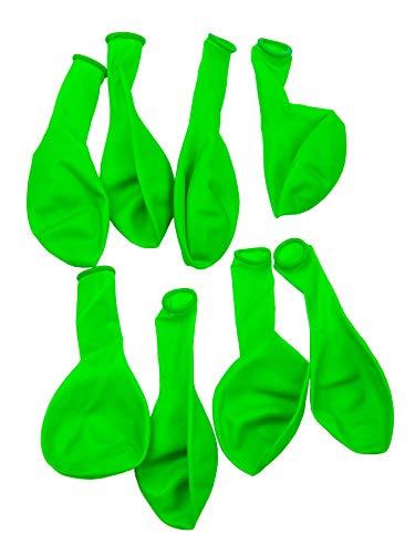 PSYWORK 8er-Pack Schwarzlicht Luftballons Neon Grün