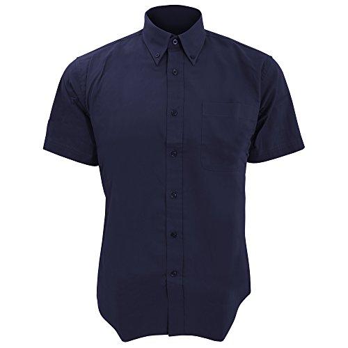 SOLS Herren Brooklyn Hemd / Arbeitshemd, Kurzarm Marineblau
