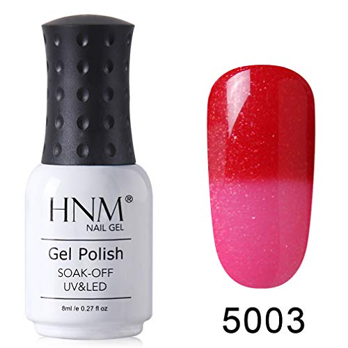 HNM Gel Vernis Semi-Permanent de Couleurs Changeantes Vernis à ongles UV LED Soak Off Manucure 8ML HNM-5003