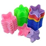 10X Silicone Star Shape Chocolate Jelly Soap Candle Cup Cake Muffin Baking Molds