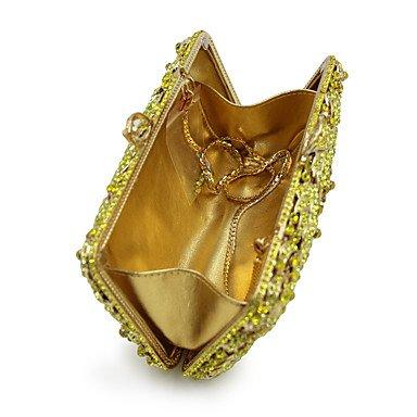 SUNNY KEY-Pochette e Clutch@Donna Borsa da sera Poliestere Materiale speciale Per tutte le stagioni Casual Serata/evento Matrimonio Minaudiere Cristalli A scattoBlu , coffee gold