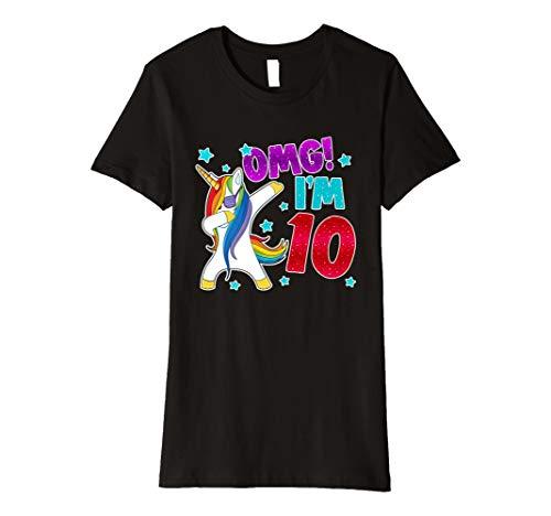 Einhorn 10. Geburtstag T-Shirt- 10 Geburtstag einhorn tshirt (Geschenke Coole 10 Jährige Für Mädchen)