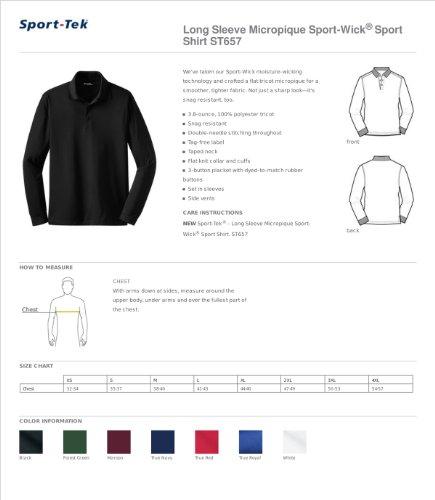 Sport-Tek Herren Button-down Poloshirt Schwarz