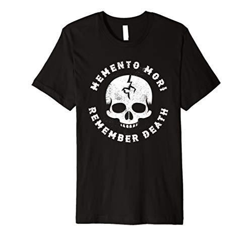 Goth Punk Memento Mori Erinnern Sie sich an Tod Skull Tee