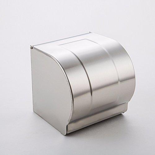 Chrome Großen Hut (MDRW-Toilette Zubehör Serviette HalterEdelstahl Gebürstet Edelstahl Rollen Toilettenpapier Gesundheit Rack Großes Bad Wasserdicht Wc Papier Fach Home Papier Handtuchhalter)