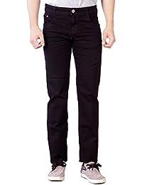 Par Excellence Men's Black Relaxed Fit Jeans