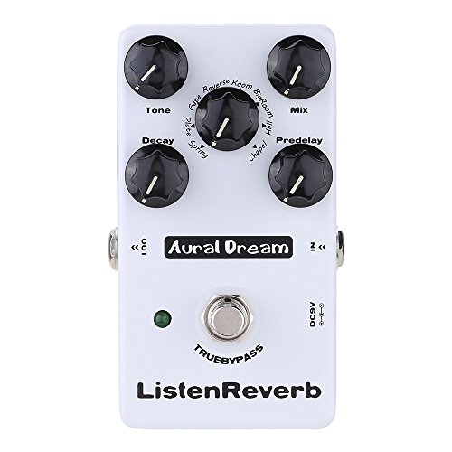 Aural Dream Listen Reverb Guitar Effects Pedal 8 Reverb modes including Spring Plate Gate Hall and Church digital reverb True Bypass