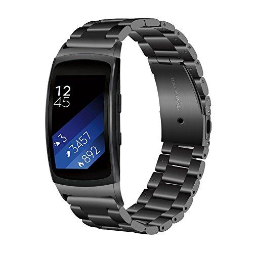 TRUMiRR Gear Fit 2 cinturino, Solid Band cinturino sportivo cinturino in acciaio inossidabile per Samsung Gear Fit 2 SM-R360/Fit 2 Pro SM-R365 Smart watch