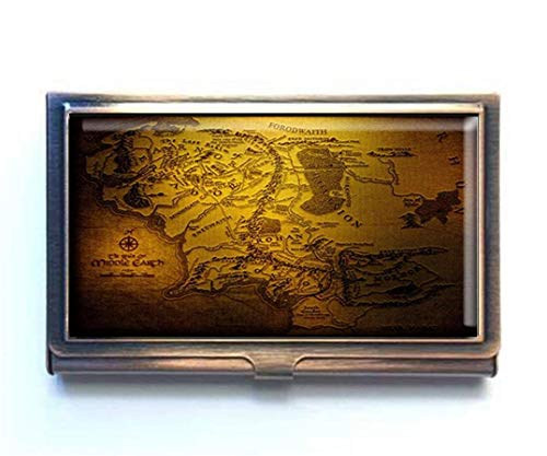 jkfgweeryhrt The Hobbit Map Custom Portable Business Bank Name Card Case Holder Box Pocket Credit Card ID Wallet