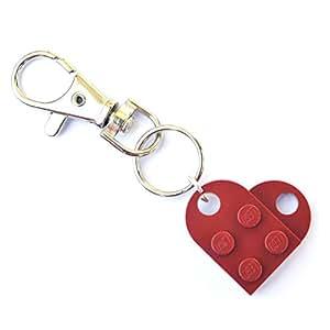 LEGO® Cuore Portachiavi (Rosso Scuro), ragazza, San Valentino