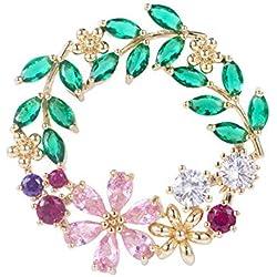 Circlefly Oliva flores broche señora capa simple Rebeca la divisa accesorios de moda