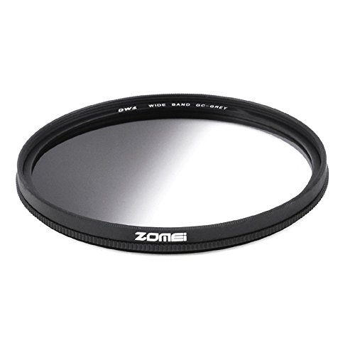 Zomei Super Slim 67mm Kunstharz Zirkular Graduated Neutral Density grau GND-Filter für Canon Nikon DSLR-Kamera
