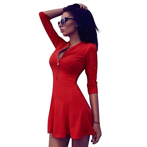 Eleery - Robe - Femme Beige bleu UK 12 rouge