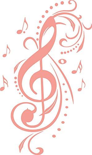 GRAZDesign 600023_40_819 Wandtattoo Notenschlüssel mit Ornament | Wand-Aufkleber in 47 Farben (67x40cm//819 Dalhia Pink)