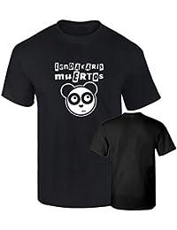 Camiseta LENDAKARIS MUERTOS OSO PANDA PUNK algodon 190grs