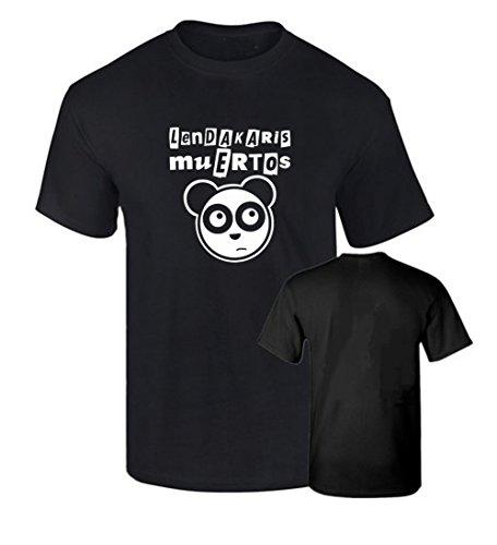 Camiseta LENDAKARIS MUERTOS OSO PANDA PUNK algodon 190grs (L)