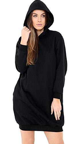 New Vanilla Inc ® Ladies Womens OVERSIZE Baggy Long Sleeves Hoodies Hooded Tunic Dress UK SIZE 8-14