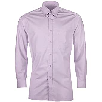 Urban heritage mens long sleeve button up wrinkle free for Wrinkle free dress shirts amazon