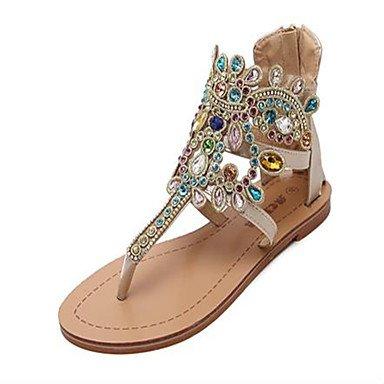 RUGAI-UE Estate Donna Sandali Casual PU scarpe tacchi comfort,l'argento,US6 / EU36 / UK4 / CN36 Gold