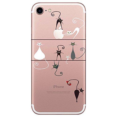 "Qissy® iPhone 7 Funda,Carcasa iPhone 7 Case Cover Dibujos Animados Silicona Suave Funda para Apple iPhone 7 4.7"" (14)"