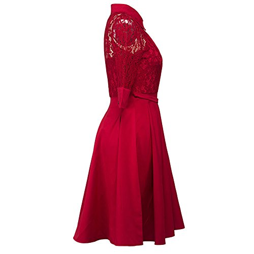 Chiffon maxi kleid damen rot spitzenkleid