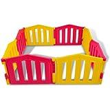 Parque infantil / bebé Parque 8 piezas de XXL by LCP Kids ® / barrera de seguridad / Ventosas de goma / Sistema de calidad - EN 71 certificado