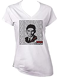 Teesquare1st Women's FRANZ KAFKA - YOU CAN HOLD YOURSELF BACK White T-Shirt