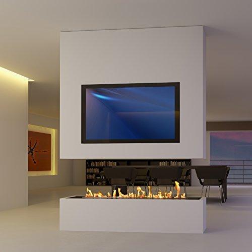 SONDERANFERTIGUNG 8: Raumteiler mit TV und Bioethanol / Elektro Opti-Myst (Raumteiler Kamin)