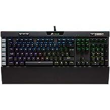 Corsair K95 RGB Platinum - Teclado mecánico Gaming (Cherry MX Brown, retroiluminación RGB, QWERTY Español), Negro