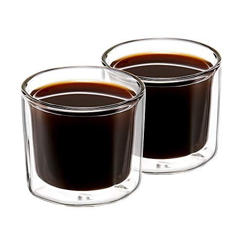 ZENS Gläser Set 2 teilig Espressogläser doppelwandig 130ml, Dessertgläser Klein aus...