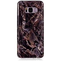 BONROY Samsung Galaxy S8 Plus (6,2 Zoll) Marmor Hülle, Silikon Handyhülle Schlank TPU - (YH-Brauner Marmor)