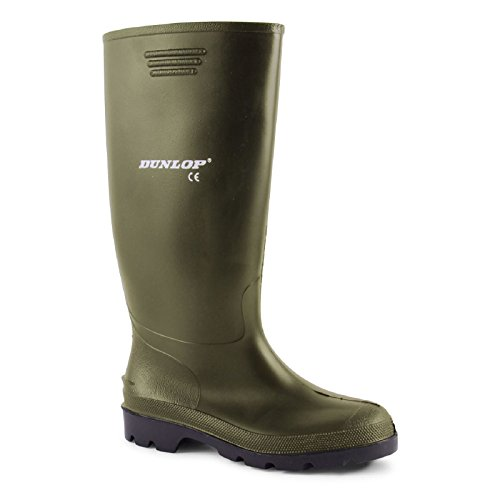 Dunlop Pricemaster Mens Green Wellies Snow Rain Waterproof Wellington Boots Shoes 7-12...