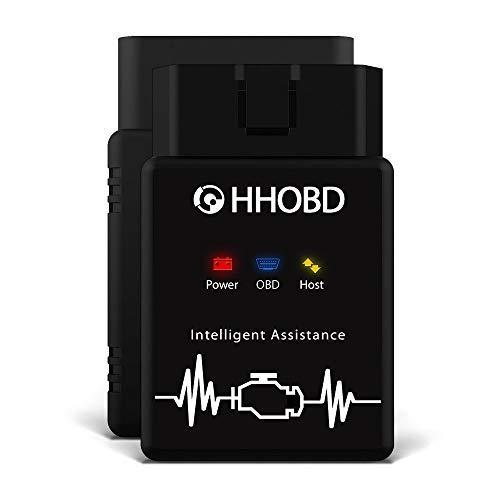 EXZA® HHOBD® Bluetooth Torque Android Interface Can Bus - OBD 2 Adaptateur sans-Fil Scanner Code de Défaut pour Véhicule Voiture Auto
