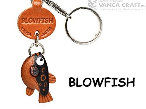 Globe/Blow/Puffer Fisch Leder Fische/seaanimal Kleine Schlüsselanhänger Vanca Windhund Schlüsselanhänger Made in Japan