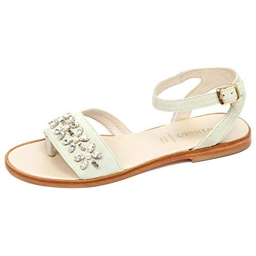 new styles 60162 a93e0 E8898 Sandalo Bimba Girl Twin-Set Scarpe Infradito Ivory Shoe Sandal [36]