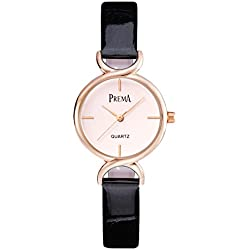 Fashion quartz Lady watch/ waterproof leather strap watch/Simple casual watches-D