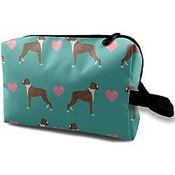 Boxers Love Fabric Cute Valentines Coeurs Tissu Pour Chien Meilleur Boxer Dog Fabric_612 Maquillage Portable Voyage Cosmétique Sacs Organisateur Multifonction Cas Sacs pour Femmes