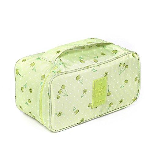 Travel Gepäck Organisatoren cubes-compression Beutel für Unterwäsche, BH, Socken, Grün, VAYEEBOUnderwear Green cherry (Tasche Louis Vuitton Neue)