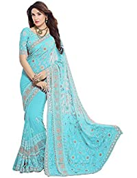 Online Fayda Women's Chiffon Saree With Blouse Piece