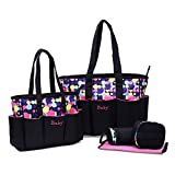 Best Large Diaper Bag - Foolzy 5 pieces Polka Dot Diaper bags set Review